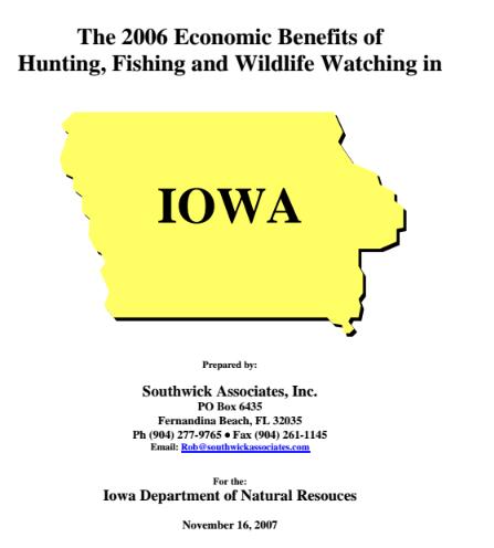 Iowa: Economic Contributions of Fishing, Hunting & Wildlife Watching