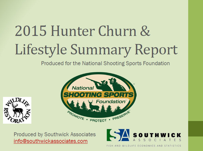 2015 NSSF Hunter Churn and Lifestyle Summary Report