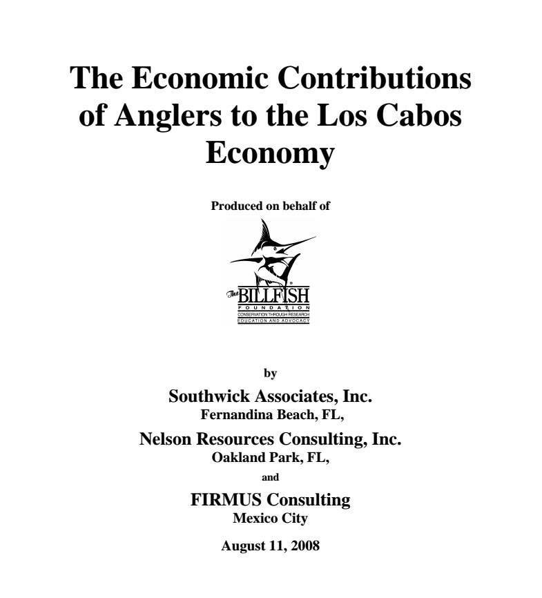 Mexico: Contributions of Anglers to Los Cabos Economy
