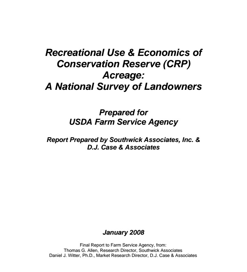 Recreational Use & Economics of Conservation Land