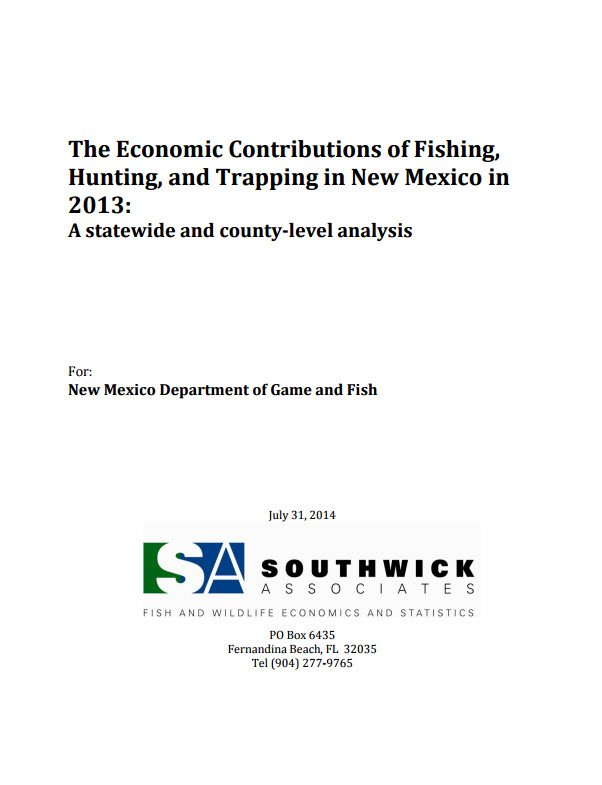 New Mexico Economics of Hunting, Fishing & Trapping
