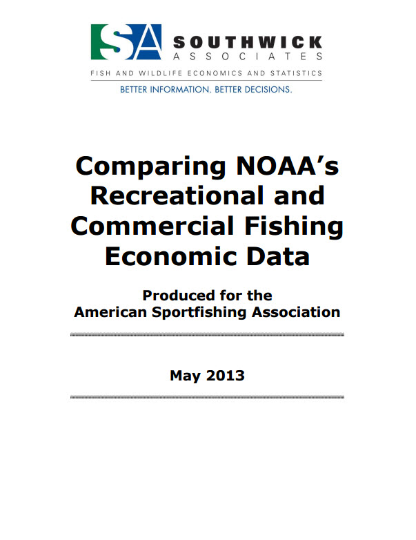 Comparing NOAA's Recreational and Commercial Fishing